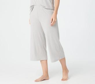 Cuddl Duds Wide Rib Cropped Pants