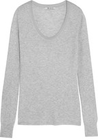 Alexander Wang Ribbed Jersey Top - Light gray
