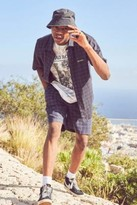 Urban Outfitters Iets Frans... iets frans... Grey Checked Short-Sleeve Shirt - Black S at