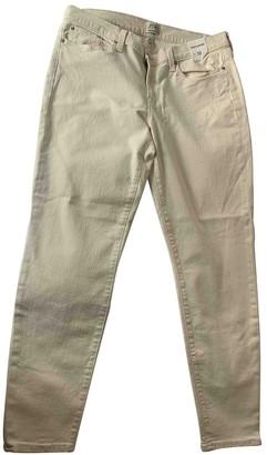 J.Crew Beige Cotton - elasthane Jeans for Women