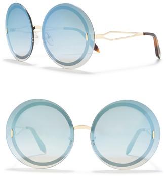 Victoria Beckham 65mm Oversize Round Sunglasses