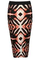 Select Fashion Fashion Womens Blue Tie Dye Midi Skirt - size 6