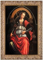 Fortitude by Botticelli Framed Painting