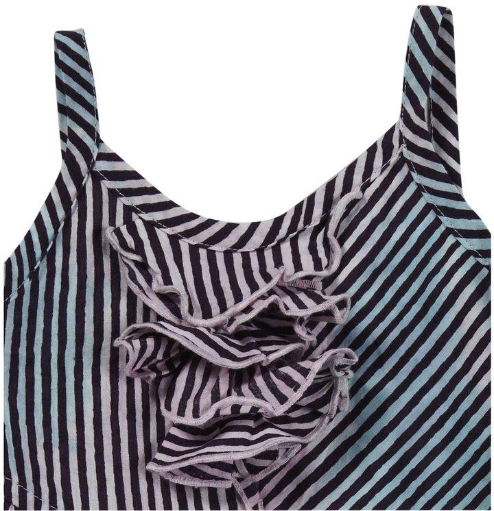 Diesel Dedeab Ruffle Striped Dress - Striped - 3 Months