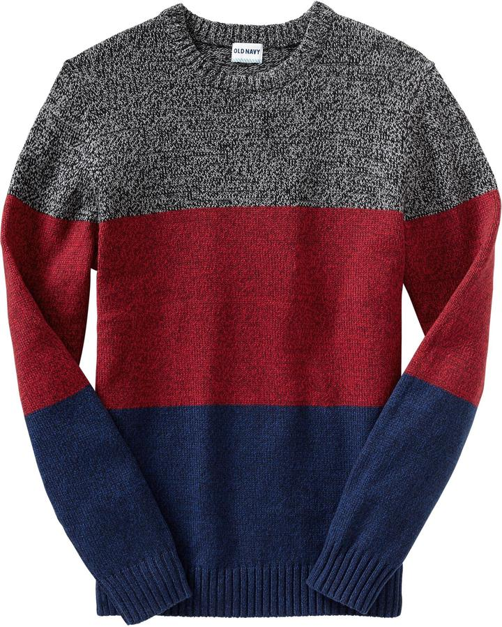 Old Navy Men's Marled Color-Block Sweaters