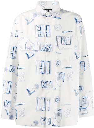 Jacquemus Felix scribble print shirt