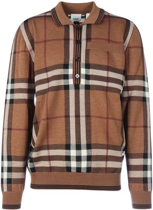 Burberry Checked Polo Shirt