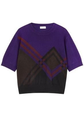 Dries Van Noten Maureen Purple Cashmere-blend Jumper