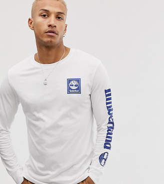 Timberland exclusive long sleeve arm logo t-shirt in white