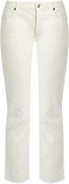 Nili Lotan Mott raw-hem stretch-cotton cropped jeans
