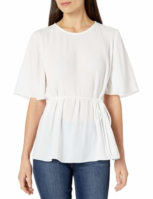 Ellen Tracy Women's Release Pleat Blouse