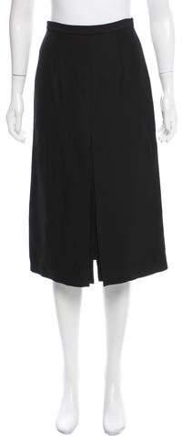 Celine Slit-Accented Knee-Length Skirt