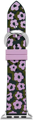 Kate Spade Women Interchangeable Green & Purple Leopard Floral Silicone Apple Watch Strap 38mm/40mm