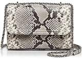 Tory Burch Fleming Snakeskin Embossed Leather Small Convertible Shoulder Bag