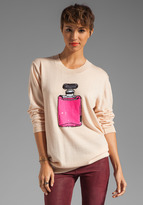 Markus Lupfer Neon Sequin Perfume Sweater