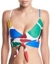 Mara Hoffman Mila Printed Wrap Swim Top