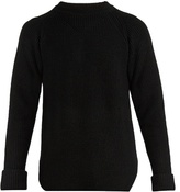 Yohji Yamamoto Crew-neck Ribbed-knit Sweater