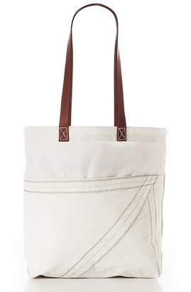 Pottery Barn Market Tote Bag with Leather Straps