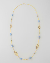 """Alexis Bittar Elements Small Lace Station Necklace with Sodalite, 38"""""""