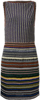 Missoni boatneck striped fitted dress - women - Nylon/Polyester/Cupro/Viscose - 42