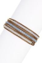 Chan Luu Mixed Semi-Precious Gemstone & Nugget Beaded Leather Wrap Bracelet