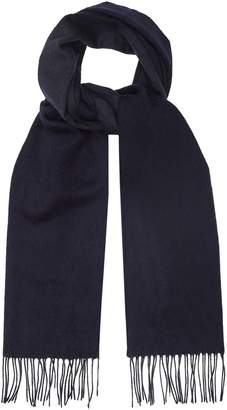 Reiss Finley - Lambswool Cashmere Blend Scarf in Navy