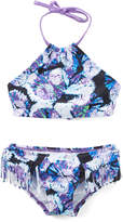 Kanu Surf Purple Abstract Okana Halter Bikini - Toddler & Girls