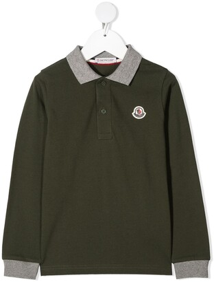 Moncler Enfant Colour-Block Cotton Polo Shirt