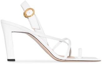 Wandler Elza 85mm leather sandals