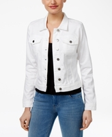 KUT from the Kloth Petite Helena Optic White Wash Denim Jacket