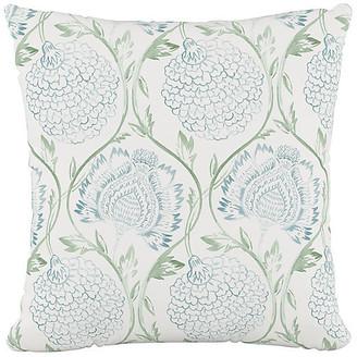 One Kings Lane Ranait Pillow - Floral Sage
