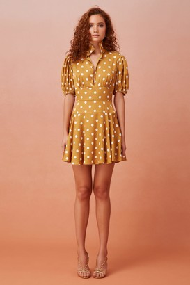 Keepsake FOR KEEPS MINI DRESS gold polkadot