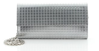Christian Dior Lady Croisiere Chain Wallet Micro Cannage Perforated Calfskin