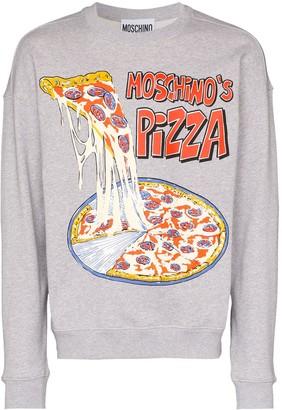 Moschino Moschino's Pizza print sweatshirt