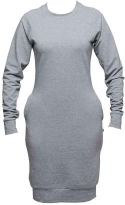Non+ Non376 Grey Raglan Sweater Dress