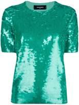 DSQUARED2 sequin-embellished top