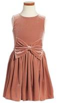Girl's Bardot Junior Sleeveless Velvet Dress