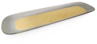 Alessi Dressed 24 Karat Gold-Plated Long Tray