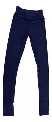 Beyond Yoga Blue Synthetic Trousers
