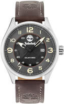 Timberland Men's Farmington Chocolate Brown Leather Strap Watch 44mm