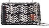 Emilio Pucci Painted Snake-Effect Leather Shoulder Bag