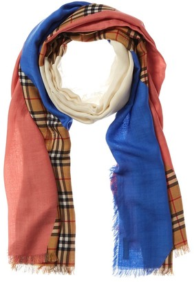 Burberry Vintage Check Wool, Silk & Cashmere-Blend Scarf