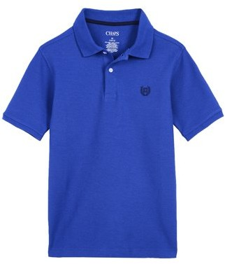 Chaps Boys Short Sleeve Solid Polo, Sizes 4-16