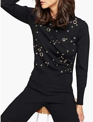 Damsel in a Dress Rina Eyelet Jumper, Black