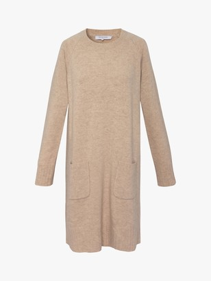 Gerard Darel Tuline Wool Jumper Dress, Beige