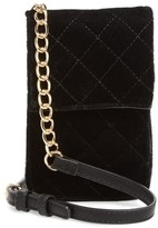 BP Quilted Velvet Phone Crossbody Bag - Black