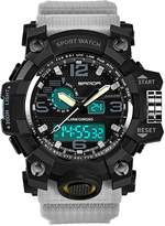 HAH Boys Sports Watch Digital Alarm Watches with Rubber Plastic Waterproof Straps Band Multifunctional Luminous Wristwatch