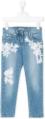 Ermanno Scervino Lace Applique Jeans