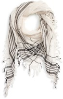Madewell Women's Plaid Wool Triangle Scarf
