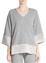 Josie Natori Cashmere & Silk Kimono-Sleeve Sweatshirt